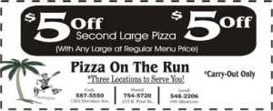 $5 Off Second Large Pizza